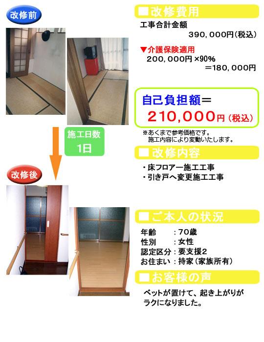 床フロアー/引き戸へ変更